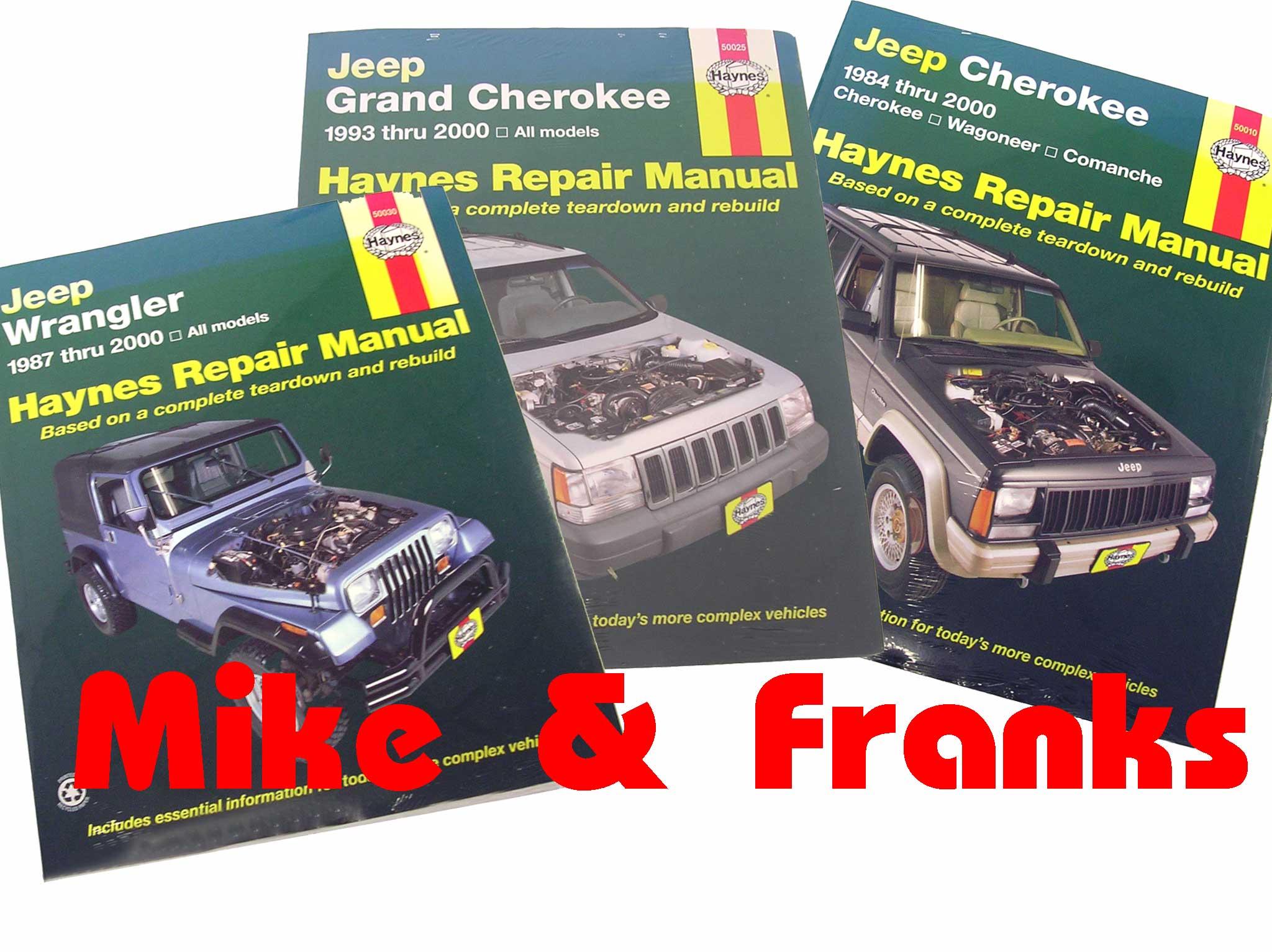 Reparaturanleitung Jeep Wrangler YJ TJ JK Cherokee YJ KJ Grand ...